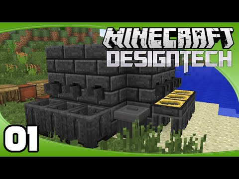 DesignTech - Ep. 1: Basic Tinker's Construct Tools | Minecraft Modded Survival Let's Play