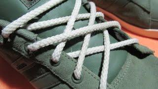 Шнуровка мужских кроссовок.Lacing sneaker male.