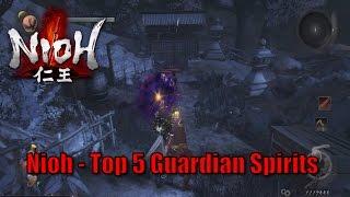 Nioh - Top 5 Guardian Spirits (including DLC)