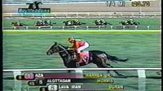Lava Man competes at Bay Meadows in 2003