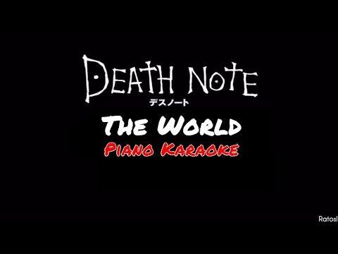 Death Note| The World~Piano Karaoke Español