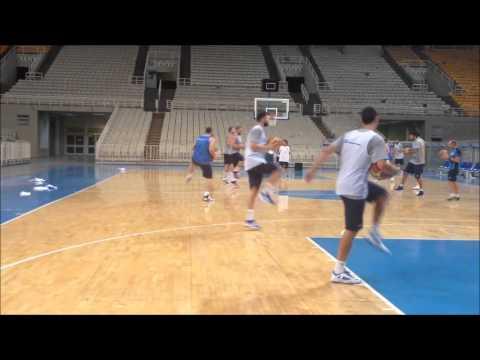 Video : Εθνική Ομάδα Ανδρών | Προπονήσεις στο ΟΑΚΑ [03.08.2013]