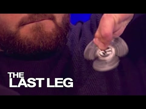 Alex Brooker Uses a Fidget Spinner - The Last Leg