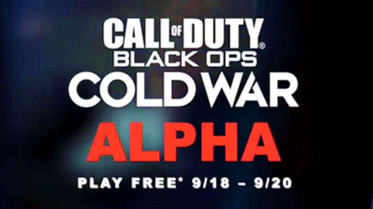 Black Ops Cold War Alpha Pre Download Release Times Cod Black Ops Cold War Alpha Download Date Youtube