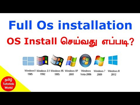 How to Install OS Windows 10/8.1/8/7/XP Tamil Tutorials World_HD