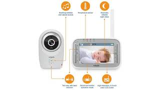 VTech VM341 Digital Video Baby Monitor with Camera and Automatic Night Vision, 1 Camera