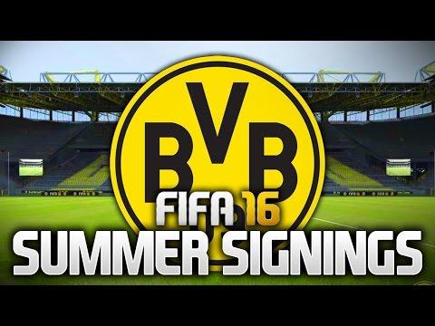 SUMMER SIGNINGS - BORUSSIA DORTMUND! (FIFA 16)