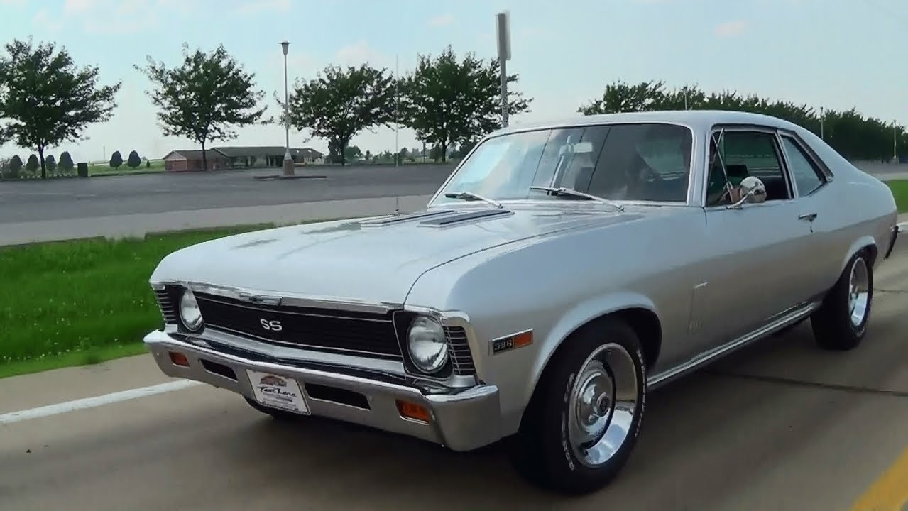 Test Driving 1969 Chevrolet Nova SS 396 Four Speed Muscle Car with     Test Driving 1969 Chevrolet Nova SS 396 Four Speed Muscle Car with Burnout    YouTube