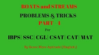 Boats and Streams Problems and Tricks - Part 3