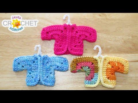 miniature-sweater-ornaments---crochet-pattern-&-tutorial