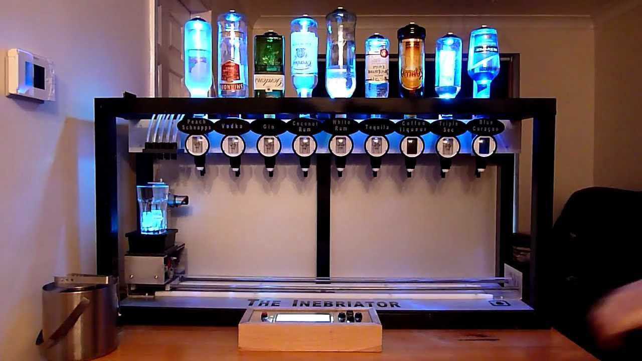 The Inebriator Arduino Cocktail Machine Dispensing