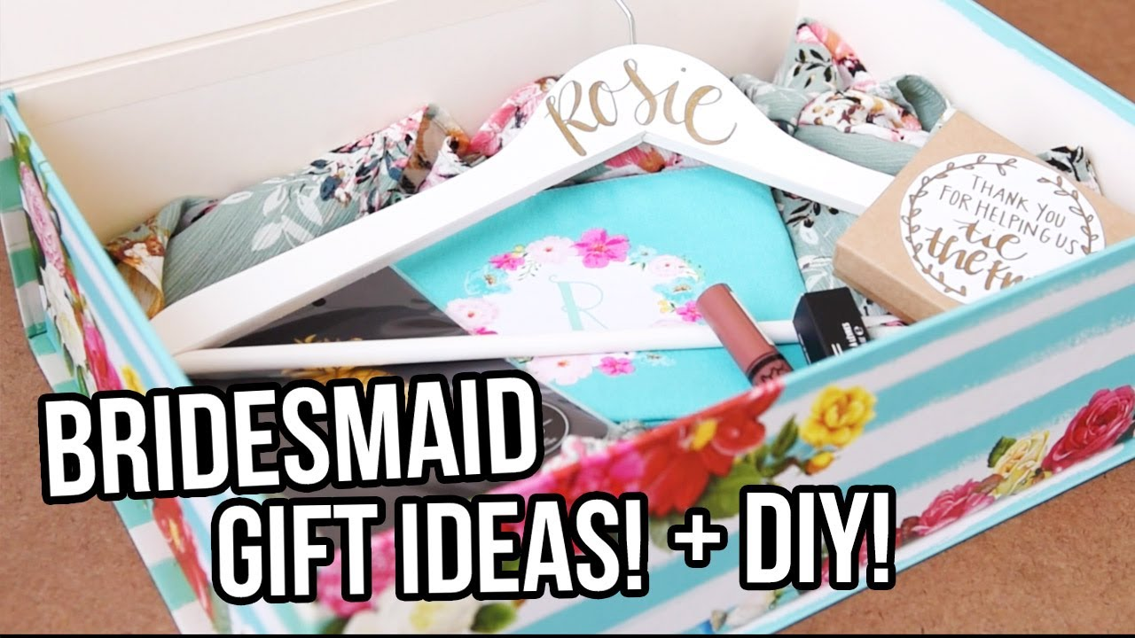 bridesmaid gift ideas diy