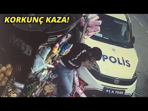 Otomobilin çarptığı Polis Aracı, Yol Kenarındaki Gence Böyle çarptı