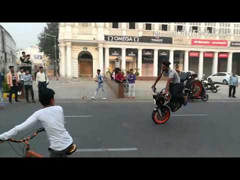 Bike Stunts in CP Delhi 2017