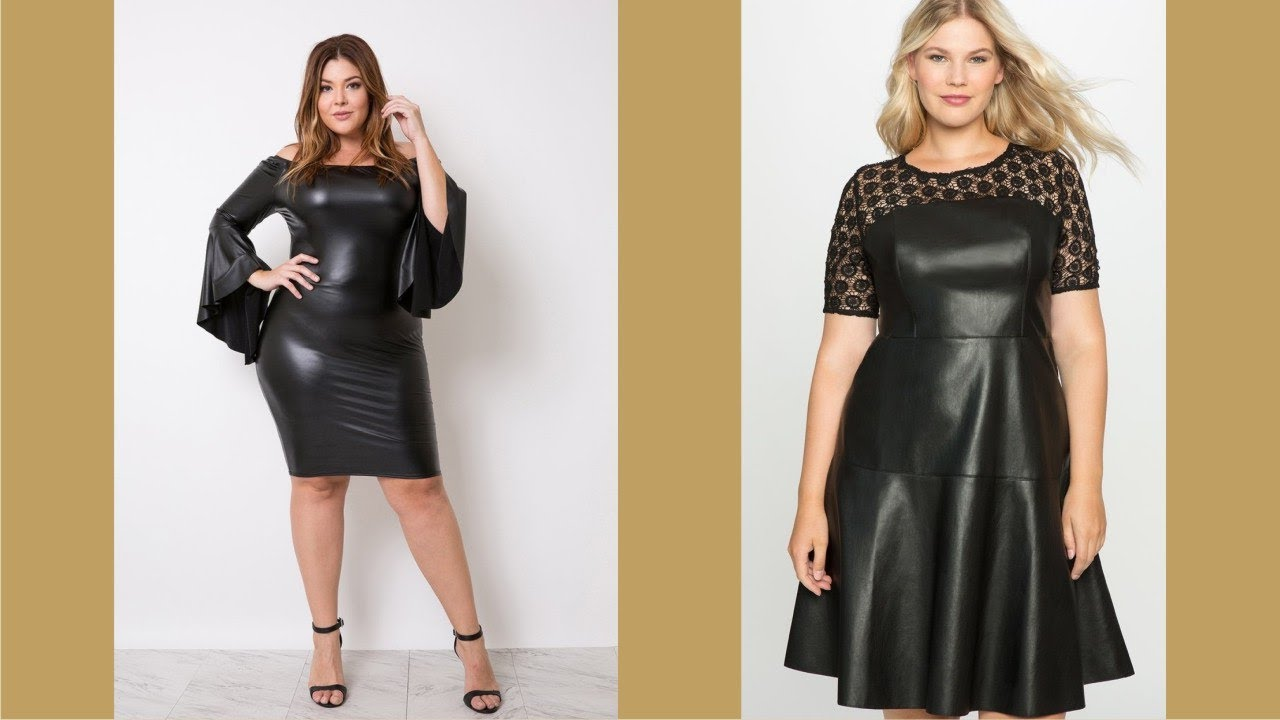 Elegant Plus Size Leather Dress - YouTube