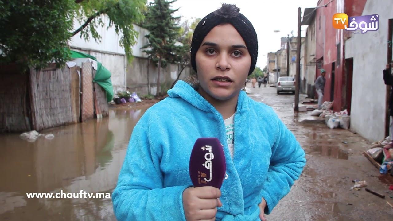 أولى التساقطات المطرية تُغرق مدينة الدارالبيضاء..القوادس مْسدودين و ليديك في ورطة كبيرة