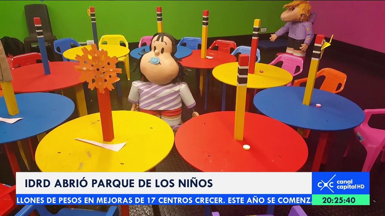 Reabren el Parque de los Niños en Bogotá - YouTube