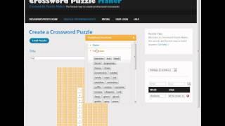 Crossword Puzzle Maker Tutorial