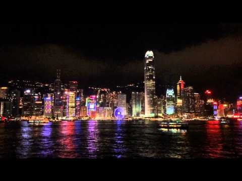 Light show in HongKong.... @8pm daily