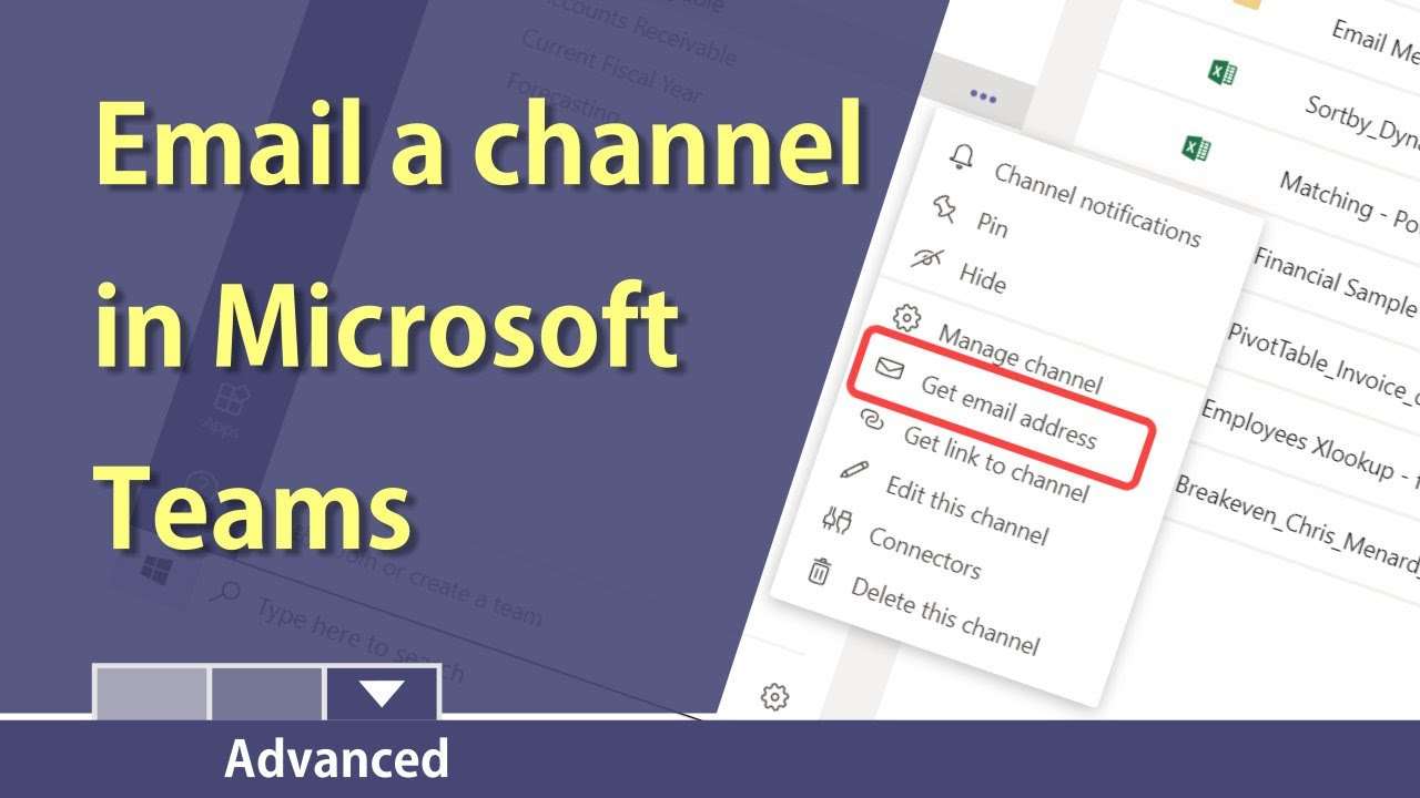Teams Send An Email To A Channel In Teams By Chris Menard Youtube