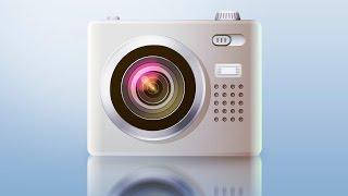 Процесс рисования иконки фотоаппарата в Adobe Illustrator/Часть 1 (Уроки Adobe Illustrator)