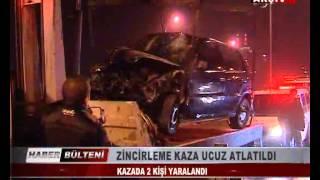 KOCAELİ TV -  ZİNCİRLEME KAZA UCUZ ATLATILDI