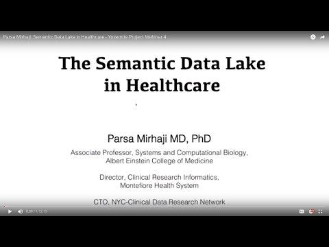 Semantic Data Lake in Healthcare - Parsa Mirhaji, MD PhD - Yosemite Project Webinar
