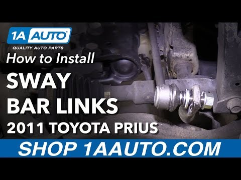 How to Install Replace Front Sway Bar Links 2010-15 Toyota Prius