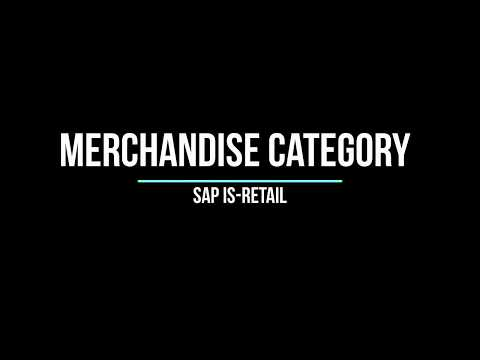 SAP IS-RETAIL Merchandise Category Creation