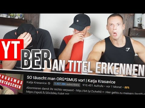 YOUTUBER An TITEL Erkennen... Mit SASCHA Und INSCOPE21