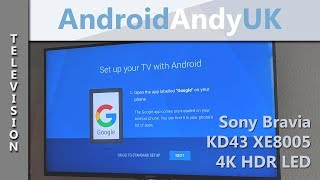 Sony Bravia KD43 XE80 4K HDR LED Television with Android TV Review