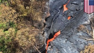 Lava flowing from Kilauea volcano forces Hawaii Big Island residents to evacuate
