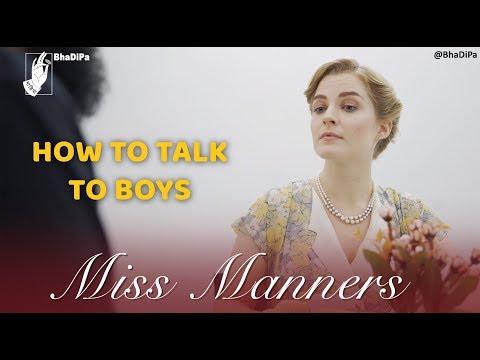 Miss Manners che Sanskar Varga - How To Talk To Boys | #internationalwomensday #bhadipa