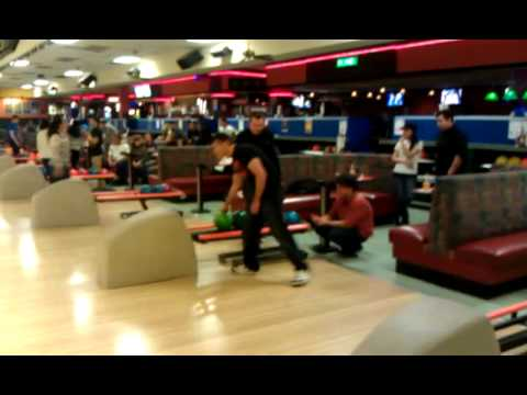 Jon bowls a spare @ Jewel City Bowl