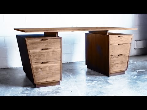 Building A Modern Desk Inspired by Bad Larry | Woodworking