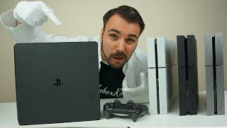 PS4 Slim - Alle Unterschiede zur normalen PS4 - Unboxing und Vergleich  - Dr. UnboxKing - Deutsch(, 2016-09-16T18:04:47.000Z)