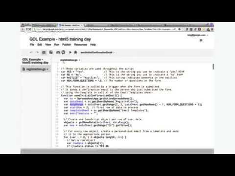 HTML5 And Google App Script (GDL Israel)