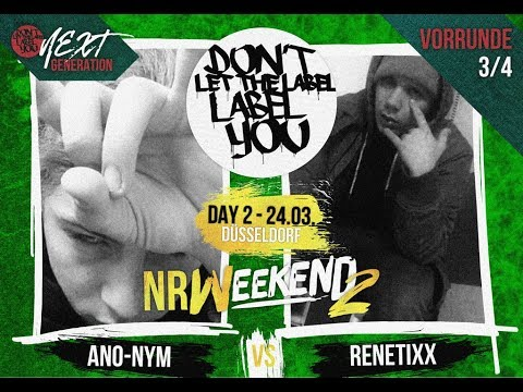 Ano-Nym vs RenetiXX // DLTLLY NextGeneration VR 3/4 (NRWeekend2 // Düsseldorf) // 2018