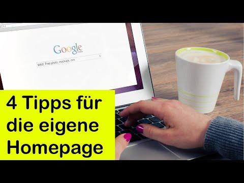 Die Eigene Homepage! 4 Tipps Die Man Beachten Sollte!