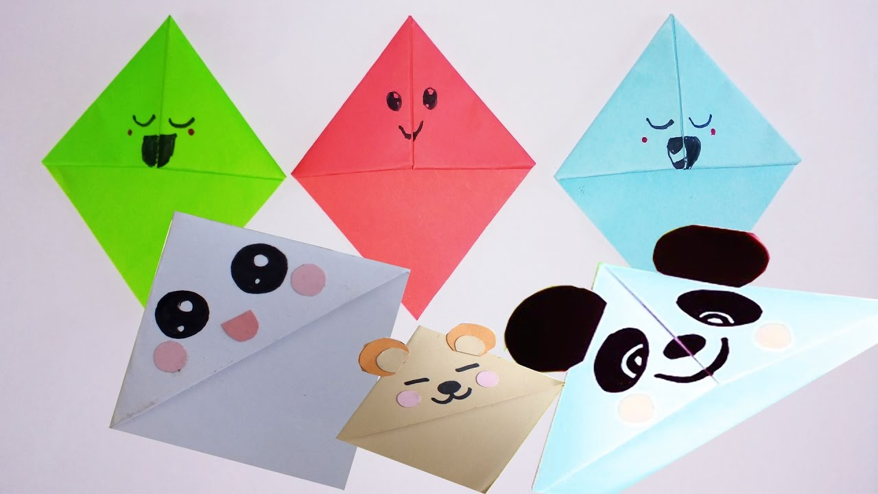 Diy simple kawaii bokmarks how to make easy kawaii How to make a simple bookmark