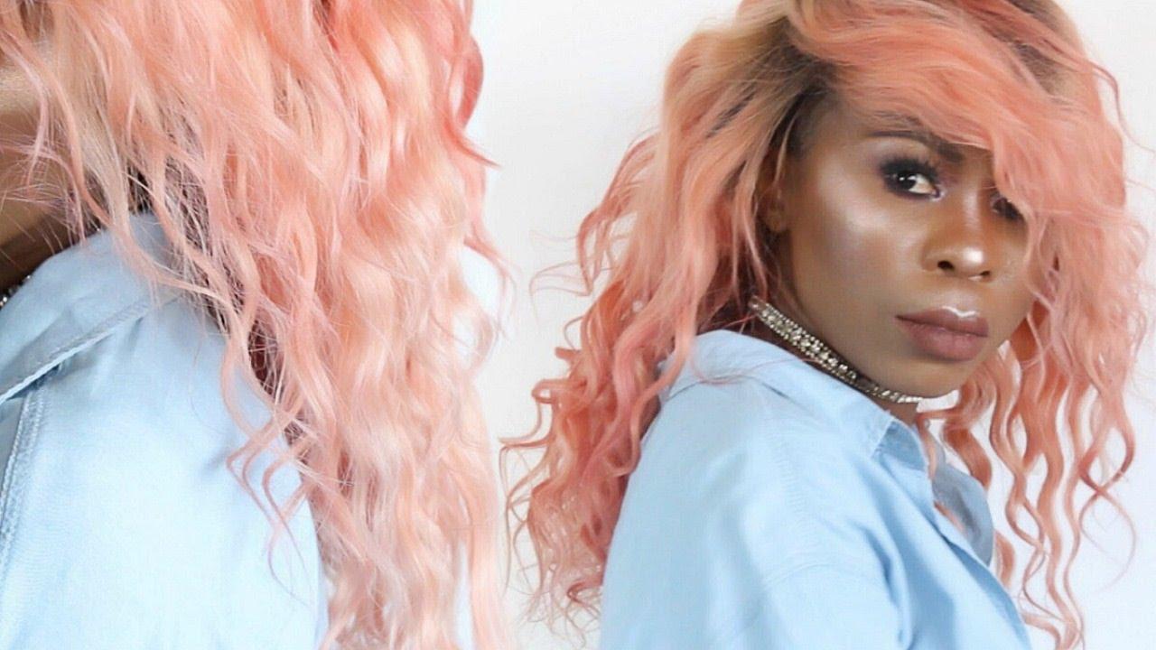 Rose Gold Peach Spring Hair Using Arctic Fox Semi
