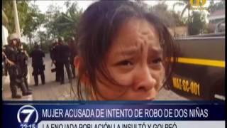 Conato de disturbio tras captura de supuesto secuestrador de menores