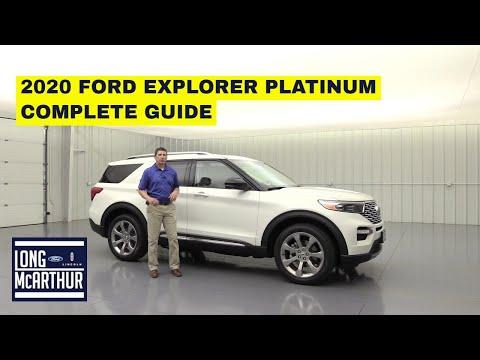 2020 FORD EXPLORER PLATINUM COMPLETE GUIDE STANDARD AND OPTIONAL EQUIPMENT
