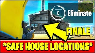 Eliminate a Henchman at DIFFERENT SAFE HOUSES Locations (Fortnite STORM THE AGENCY Challenges)