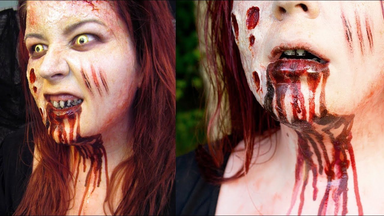 Halloween Makeup Tutorial Mia from EVIL DEAD - YouTube