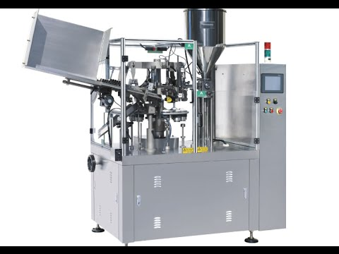 auto aluminium tube filling and sealing machine live video t