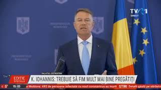 Declaraţii Klaus Iohannis, despre inundaţiile care au avuc loc în România în ultimele zile