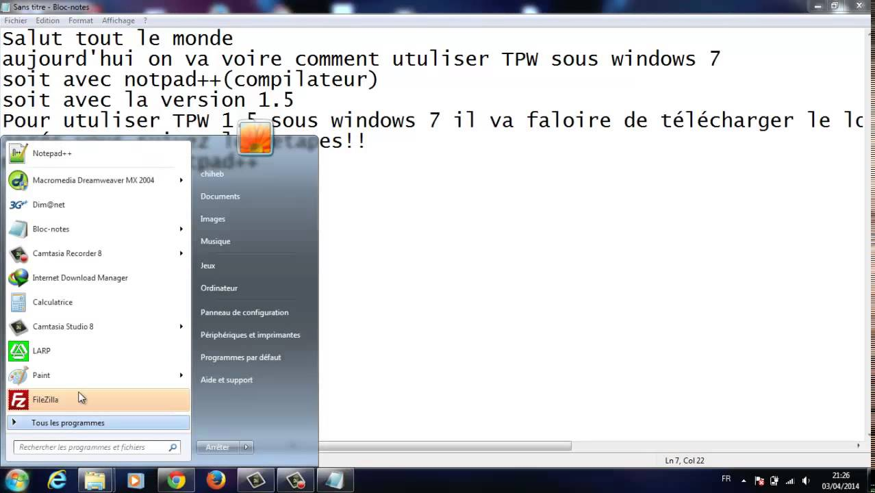 TÉLÉCHARGER TPW 1.5 WINDOWS 7 64 BITS