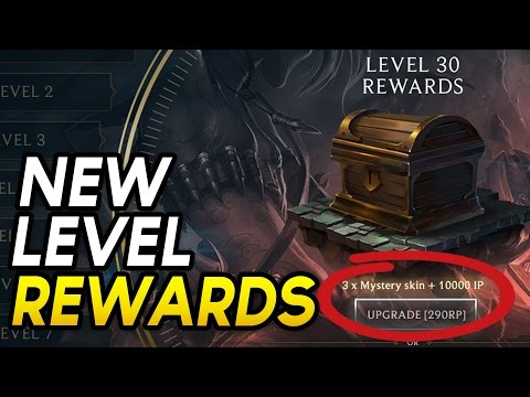 NEW LEVEL UP REWARDS? 10,000 IP FOR 290RP? (League of Legends)