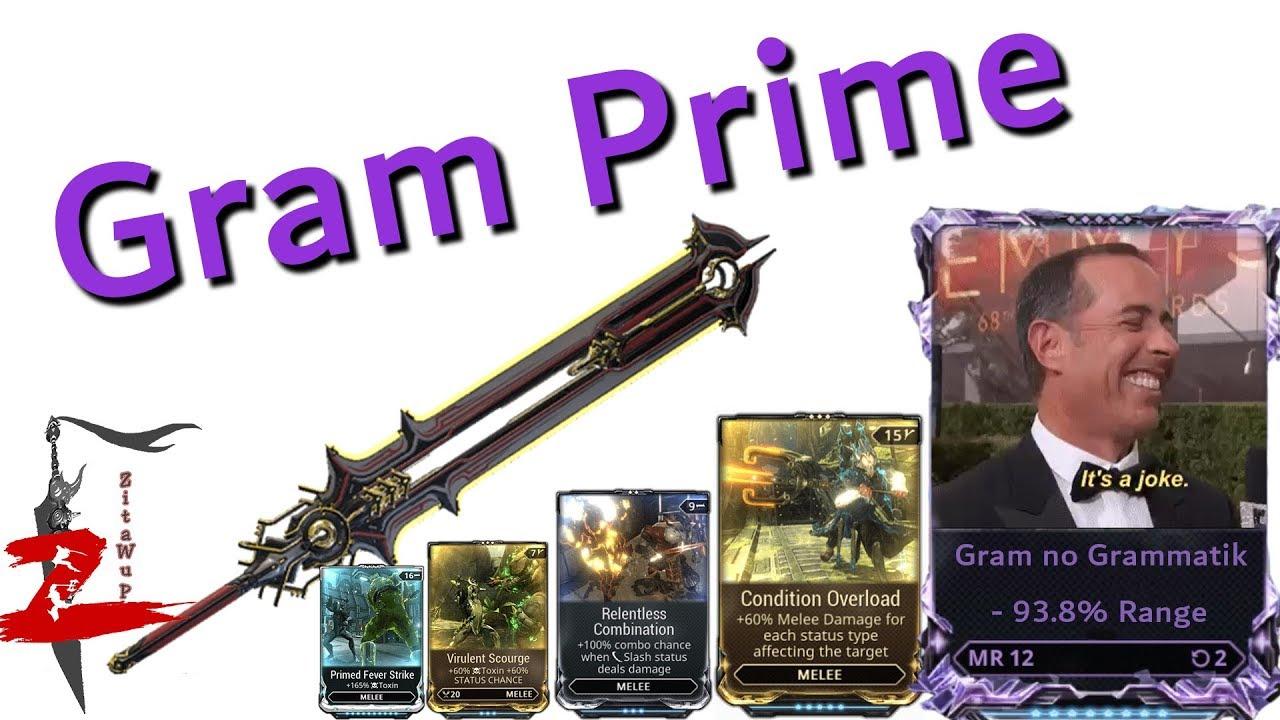 Warframe Gram Prime No Grammatik Youtube